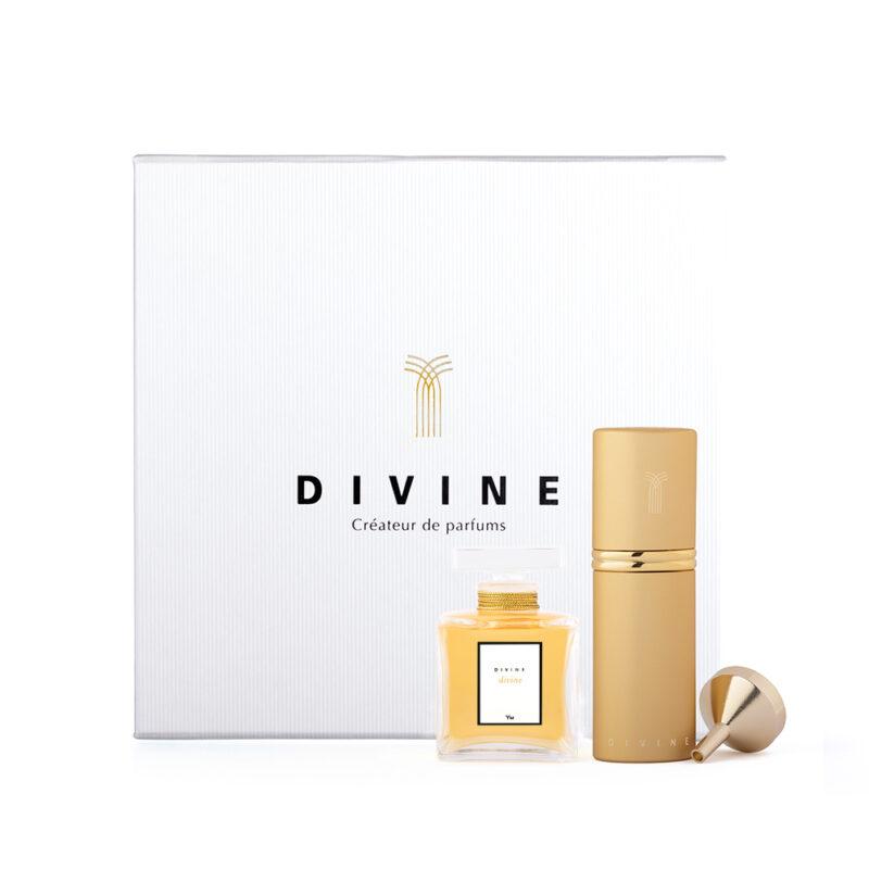 divine 50 ml splash bottle + 9 ml purse spray gift coffret