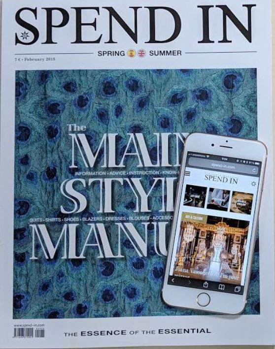 Divine Spend-In magazine Spain parfum divine revue de presse