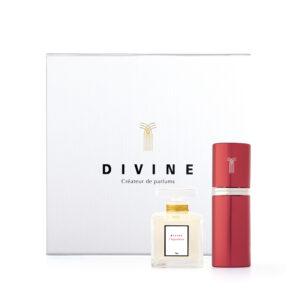 l'inspiratrice coffret cadeau flacon ressource 50 ml + vaporisateur de sac 9 ml